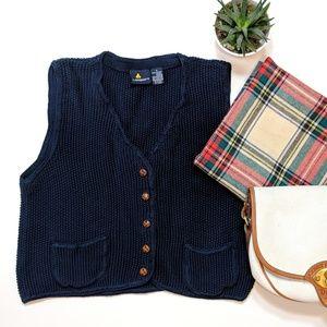 🌼 VINTAGE 🌼 LIZ SPORT Navy Knit Vest